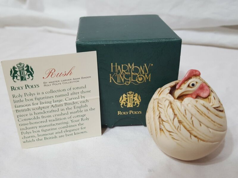 Harmony Kingdom Hardbody Roly Poly Rush the Rooster New In Original Box