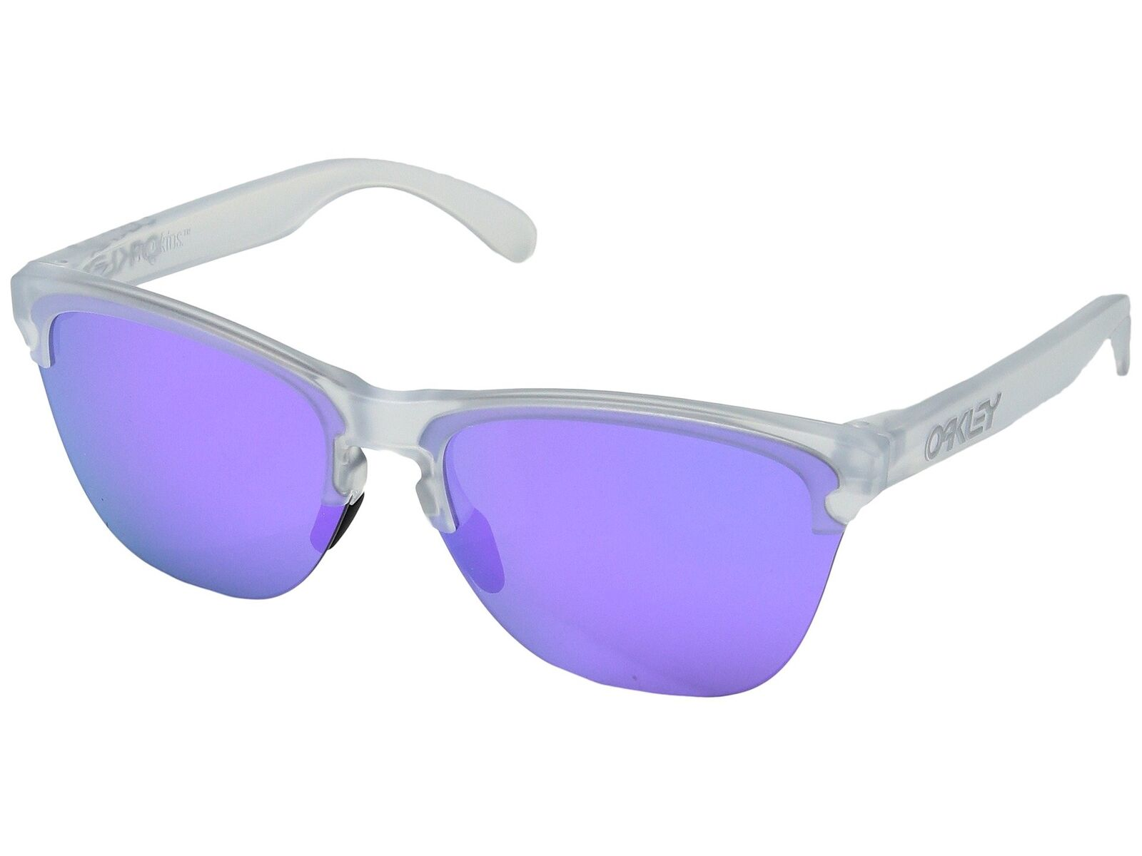 f3e19b6944 Oakley Frogskins Light OO9374-03 Sunglasses Matte Clear Violet Iridium 9374  03