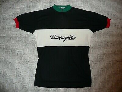 ITALIAN TEAM  VINTAGE CLASSIC RETRO WOOL BIKE JERSEY XL BLACK TEAM SHORT SLEEVE (Short Sleeve Wool Jersey)