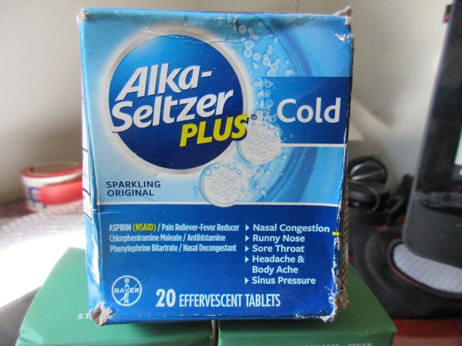 Alka-Seltzer Plus Cold Formula Effervescent Tablets Original