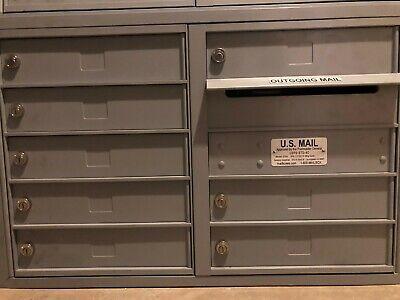 Salsbury Recessed Mounted 4C Horizontal Mailbox - 8 Doors Model # -