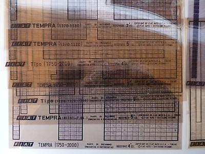 Fiat Ersatzteilkataloge auf Microfilm Fish Tipo Tempra Regata Konvolut