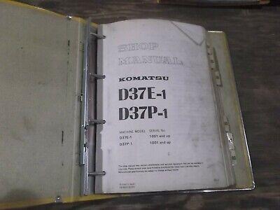 Komatsu D37e-1 D37p-1 Crawler Dozer Bulldozer Shop Service Repair Manual