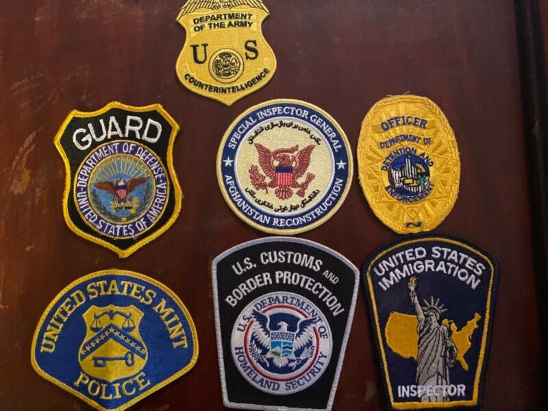 US Govt/Federal agency patches - lot of 7