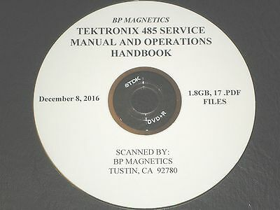 Tektronix 485 Service Manual Operations Handbook 1.8gb All On A Dvdr