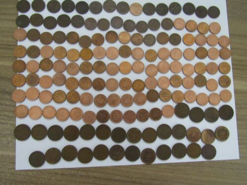 Lot of 480 Different Old Germany Coins - 1916 to 1996 - Circulated