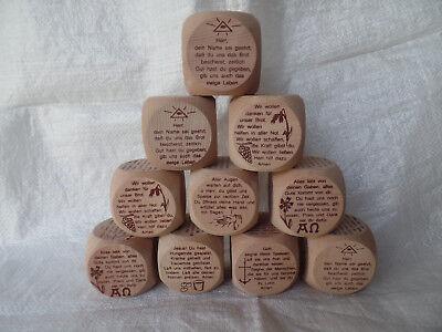 10 Gebetswürfel Holzwürfe Tischgebete Children Gift Communion Special Price