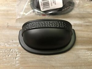 Richelieu Traditional Metal Cup Pull - Matte Black - 12 pieces