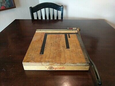Vintage Ingento No. 4 Guillotine Paper Cutter Trimmer 12 X 12 Made In Usa