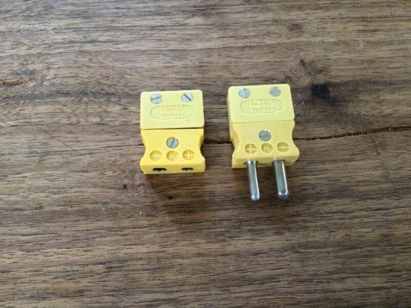 (NEW) Tempco Yellow, Type: K, Plug And Connector