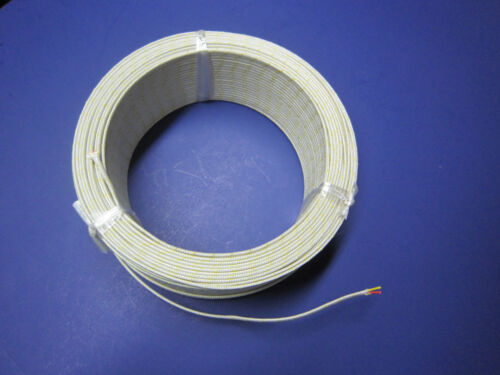 K-type Thermocouple Wire AWG 24 Solid with Fiberglass Insulation Extension 10 yd