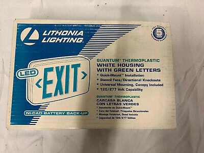 Lithonia Lighting Quantum Thermoplastic Led Emergency Exit Sign ... A5