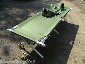 British Army BRAND NEW MK 3 Folding Aluminium Cot Bed Camp Bed Camping Fishing