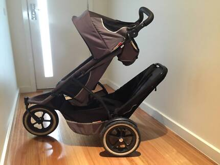 Phil and Teds Pram, Double Toddler Seat and All Accessories Bentleigh East Glen Eira Area Preview