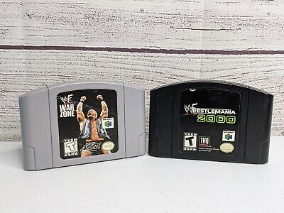 N64 WWE WWF Lot of 2 Games:, Wrestlemania 2000, War Zone.