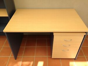 study desk with hutch