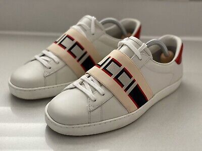 Gucci Ace- Mens Striped Sneaker- Size 6.5- New Season
