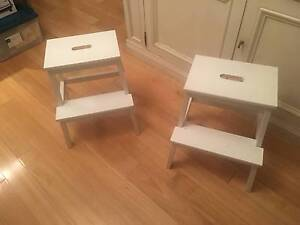 Ikea Bekvam side tables - white Stanmore Marrickville Area Preview