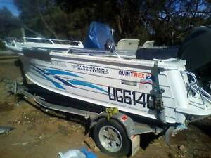 2011 QUINTREX 450 TOP ENDER, Boat and custom trailer.