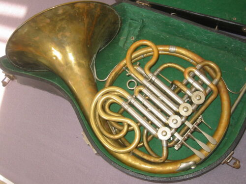Nice vintage rot.4V French double horn