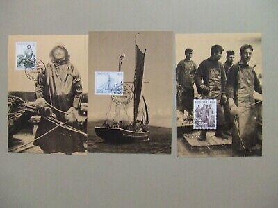 Set of three Faroe Is FISHERMEN maxi cards