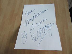 ALEX MAGUY CARTE DE VOEUX MANUSCRITE - France - ALEX MAGUY CARTE DE VOEUX MANUSCRITE 21 X 15 CENTIMETRES PAS DE DATE BON ETAT (cam2350) - France