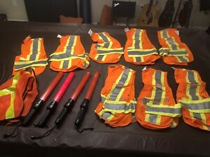 Safety vests and lights