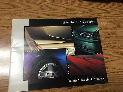 1994 Honda Accessories Brochure Accord Civic Del Sol Prelude Fast Shipping