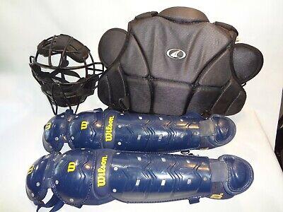 Baseball Catchers Gear Softball  Helmet Shin Pads Chest Protector XL High school