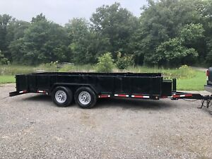 Heavy duty, equipment/float trailer. With removable sides.
