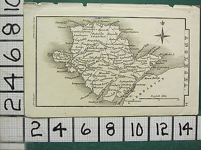 c1833 GEORGIAN MAP ~ ANGLESEA BEAUMARIS LANERCHYMEDD