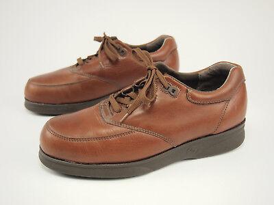 (1990s CAROLINA Vintage Brown Leather SD Steel Toe Work Oxfords 7 EE)