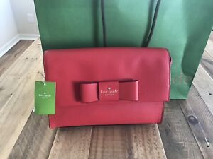 Brand NEW Classic KATE SPADE bow red Leather purse.