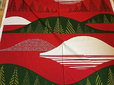 "Marimekko Fabric ""Kultakero""  by the Yard, Perfect, 100% Cotton, Red/Green/White"