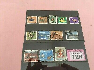 128 - Jamaica (QEII) 1964 - 1966 1d - 10/- part set  SG 217/232  12 of 16 stamps