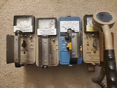 Lot Of 4 Ludlum Model 2 Geiger And Vwr Gms10s Counters Radiation Detectors