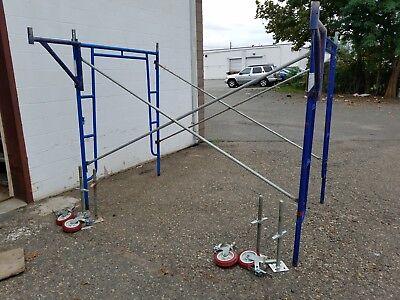 17 Bon 5 X 6 6 X 8 Walk Thru Scaffolding Frame Sets Planks Leveling Jacks