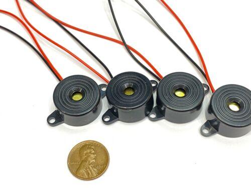 4 Pieces Buzzer alarm active piezo 3v 5v 6v 12v 24v continuous sound dc 85DB C20