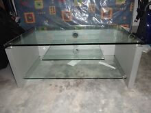 TV stand with glass shelves excellent condition Cameron Park Lake Macquarie Area Preview