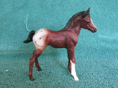 Breyer #673 Classic Mustang Foal in  Chestnut Appaloosa - Great Condition - Ship