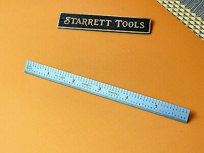 Starrett No. C305r-6 6 Long Full-flexible Steel Rule With Inch Grad. Usa Made.