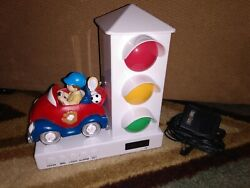 Stoplight Sleep Enhancing Alarm Clock for Kids, Red and Blue Sports Car WORKS