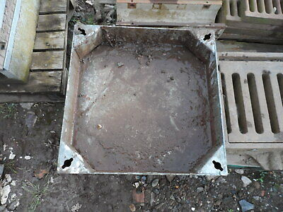 500 x 500 x 100mm Steel Recessed Block Paving Manhole Cover & Frame