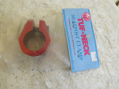 TUF-NECK  RED SEAT POST CLAMP BMX CRUISER FREESTYLE PRO NOS VINTAGE (Pro Neck)