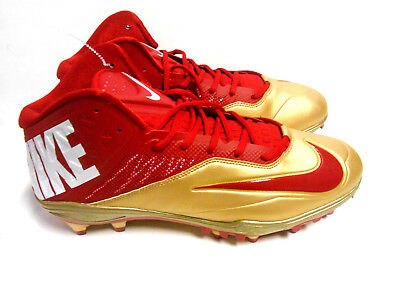 Nike Zoom Code Elite Red Gold Cleats Football 49Ers 620499 628 Fsu Men Size 12 5