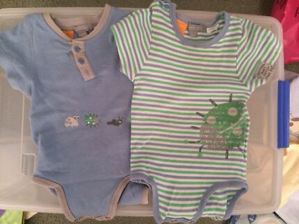 Two pumpkin patch onesie size 12-18 month Calamvale Brisbane South West Preview