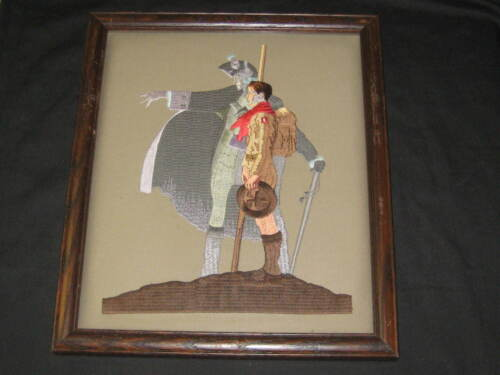 A Scout is Loyal Norman Rockwell Embroidery,  Framed Print