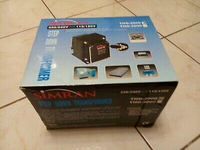 Simran Voltage Transformer Step Down 240220v - 120110v Thg 2000