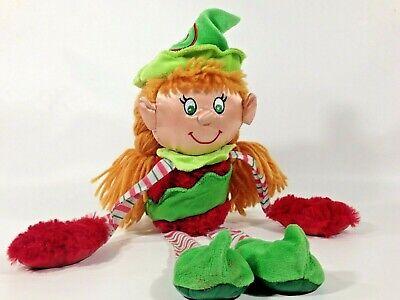 """SKOODLEZ Christmas ELF Girl Santa's Helper Plush Doll 14"""""""