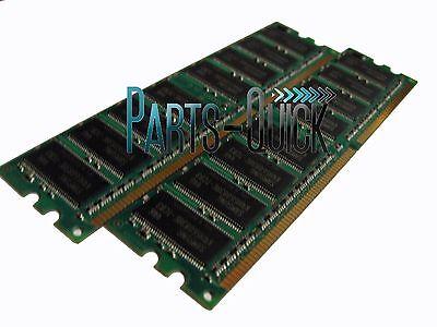 2GB 2x 1GB PC2100 Memory Dell Dimension 2350 4400 4500S 4550 4590T DDR 266 RAM